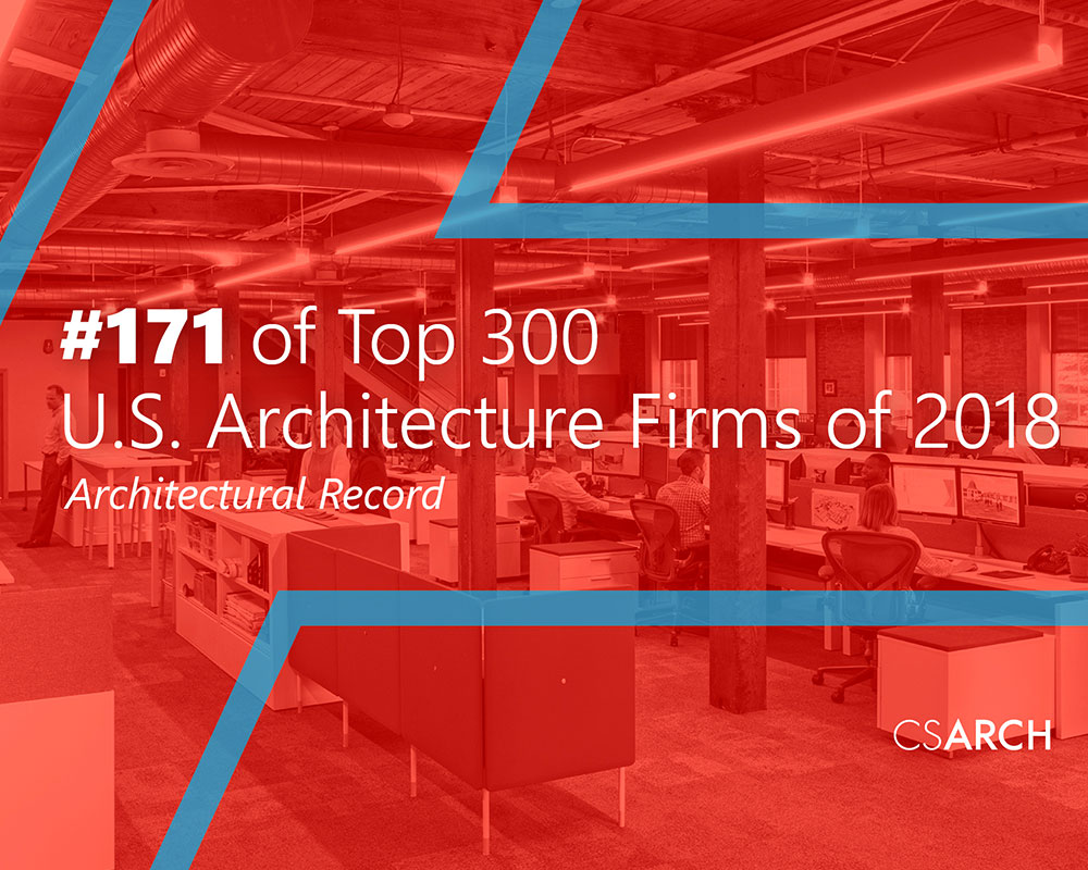 CSArch Ranked #171 Among Nation's Top 300 Architecture Firms