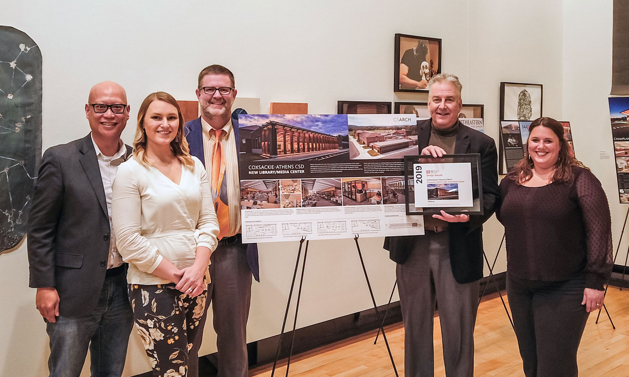 CSArch Receives Award For Design Of Coxsackie-Athens HS Library