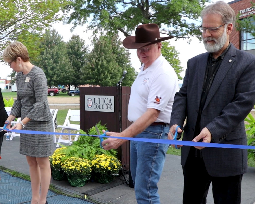 Utica College Cuts Ribbon On Thurston Hall