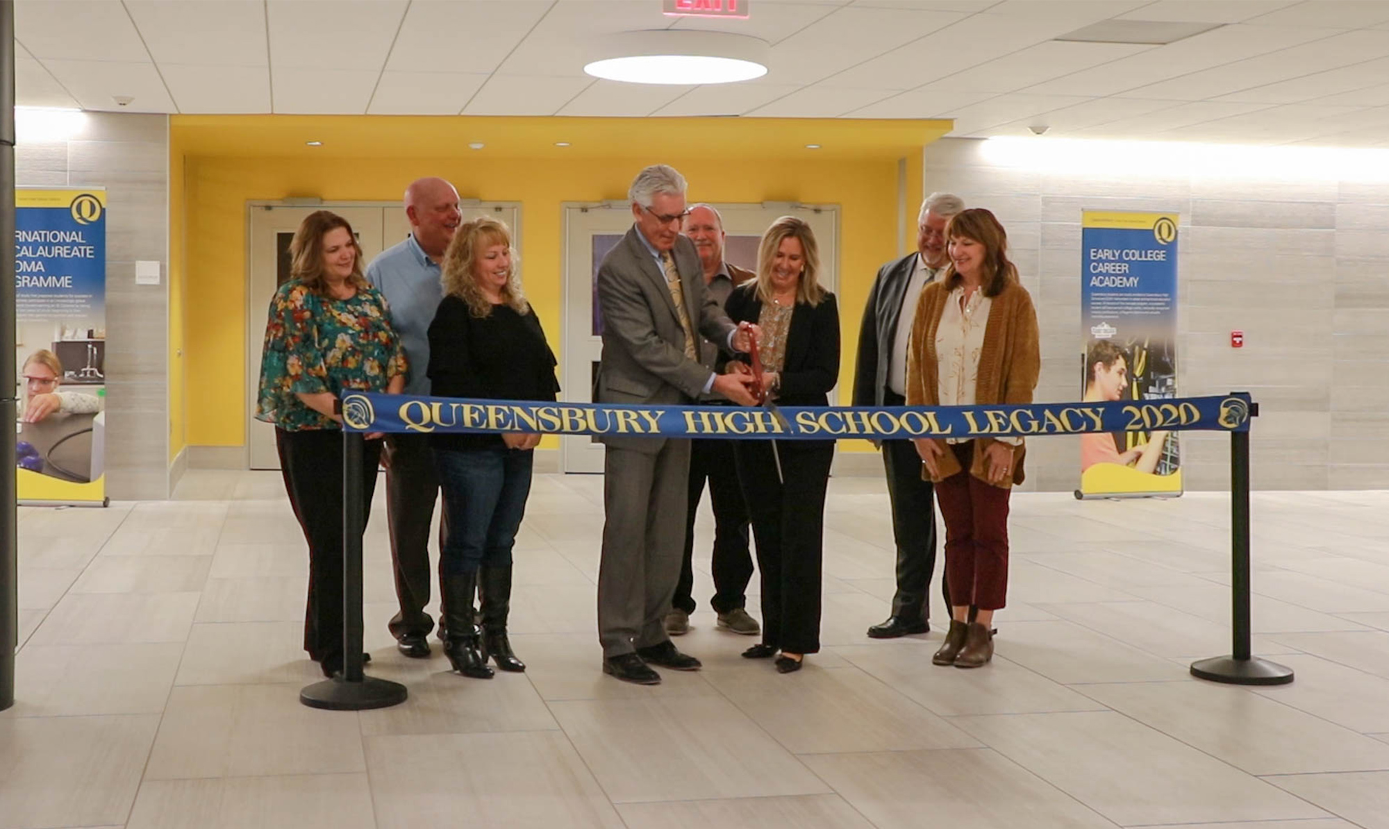 Queensbury UFSD Cuts Ribbon on Legacy 2020 Project